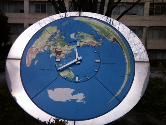 map projection clock