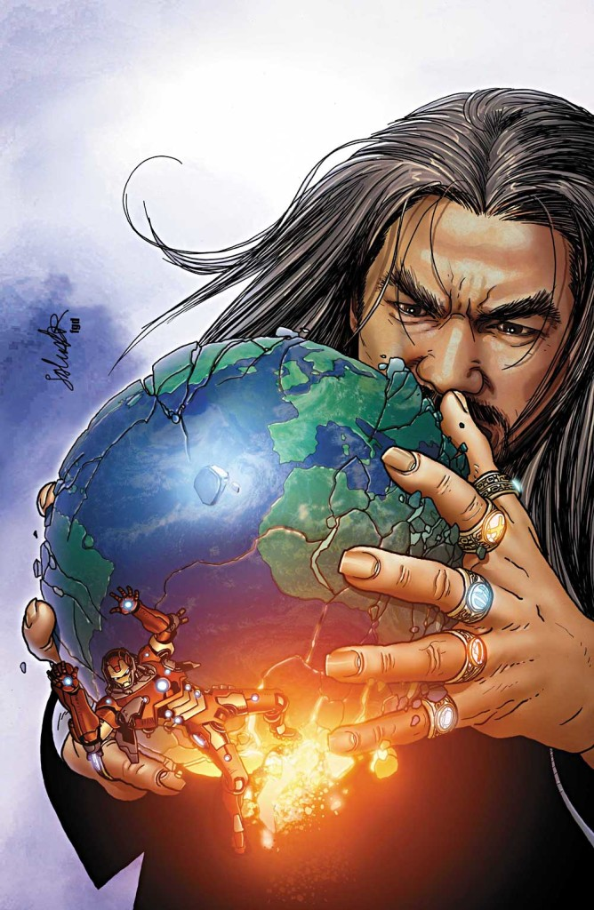 This cover art for the 2008 comic Invincible Iron Man #525 illustrates Western fears of an Eastern global takeover.