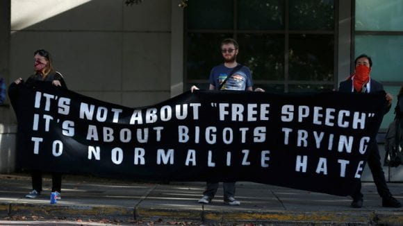 It's not about Free Speech...about bigots normalizing hate