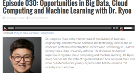 Dr. Ryoo Talks about Big Data on Podcast 'Verge of Discovery'