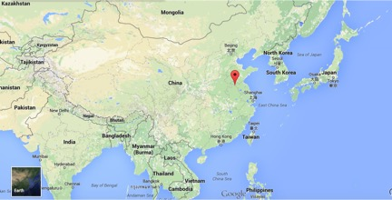 Xuzhou is a small town located in the Jiangsu province of China, between Beijing and Shanghai.