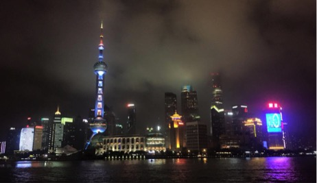 Downtown Shanghai looks especially magical at night.
