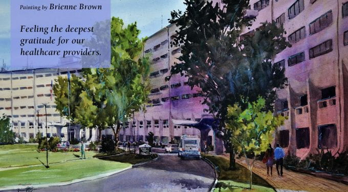"""""""Sunlit Crescent"""" created by Brienne Brown Feeling the deepest gratitude for our healthcare providers."""