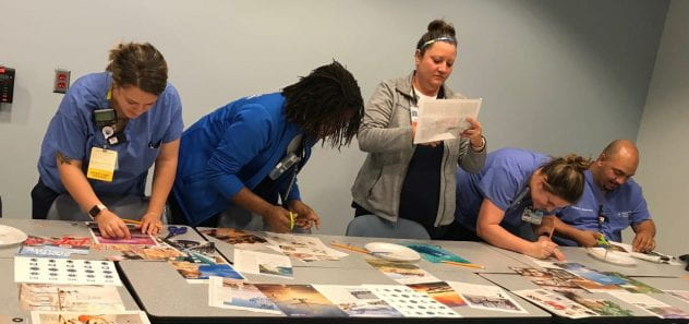 Residents creating artistic magnets