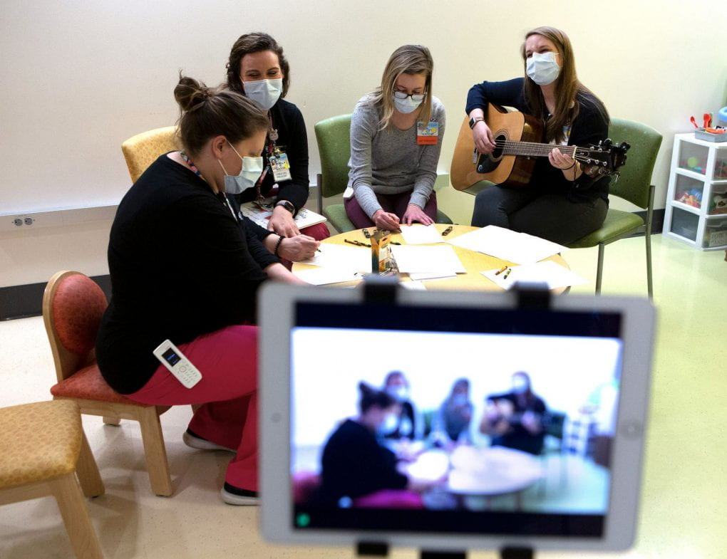 Art and Music Therapists working with patients during COVID