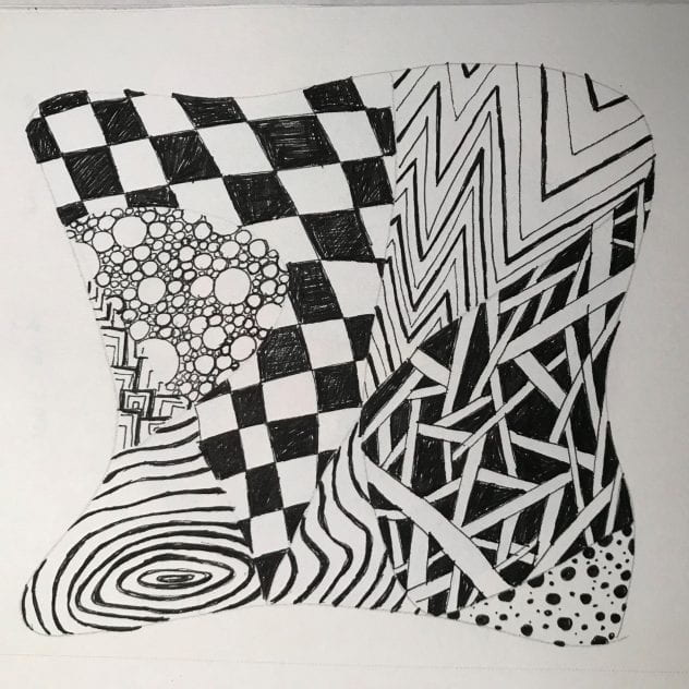 Zentangle art creation