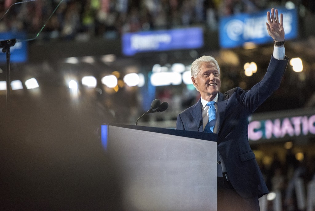 Former President Bill Clinton speaks at the 2016 Democratic National Convention. Photo by Penn State student Gabrielle Mannino
