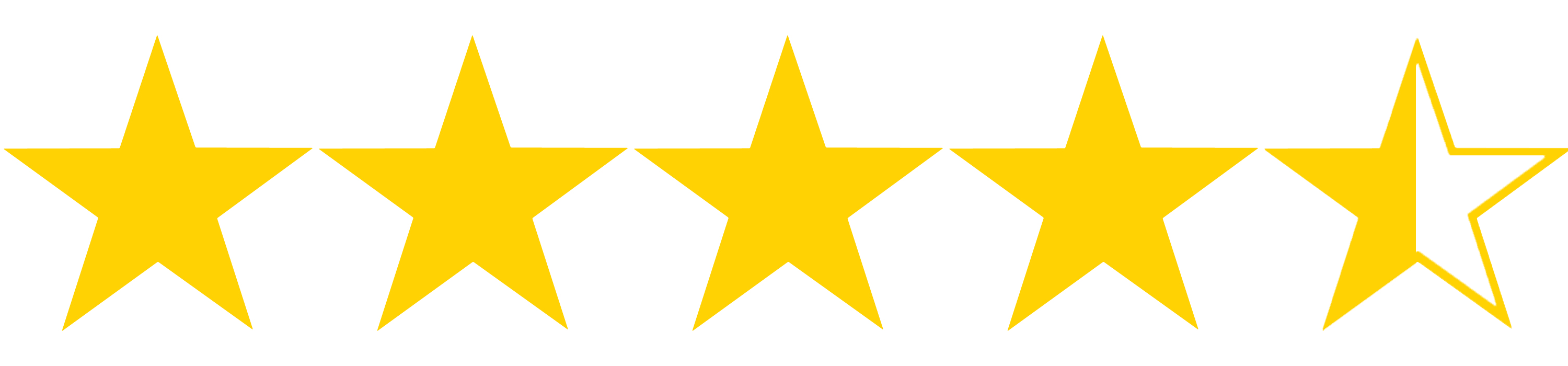 Image result for 4 and half gold stars