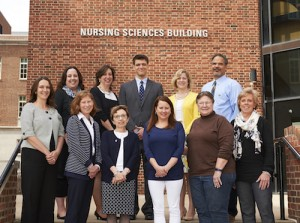 Nursing Alumni Society board members: (top) Lauren Thumm Saxton, Wendy Edgar, Matt Ising, Jennifer Sprankle, Mark Harrison; (bottom) Andrea Yevchak Sillner, Joelyn Niggle, Kathryn Terlinsky, Lois Horner, Judy Weber, Mary Anne Ventura (Not pictured: Karen Macauley, Megan Verbos)
