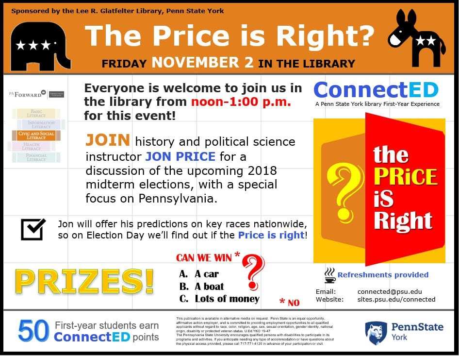 Image of the poster for The Price is Right? event