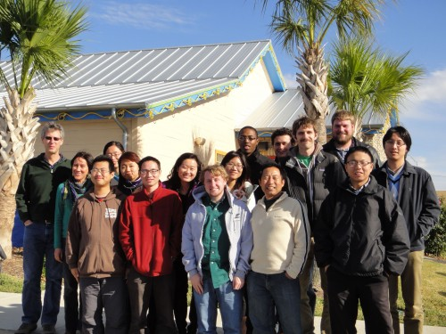 Dec. 11, 2012 - Last group lunch after packing up the lab in Texas, Chuy's College Station