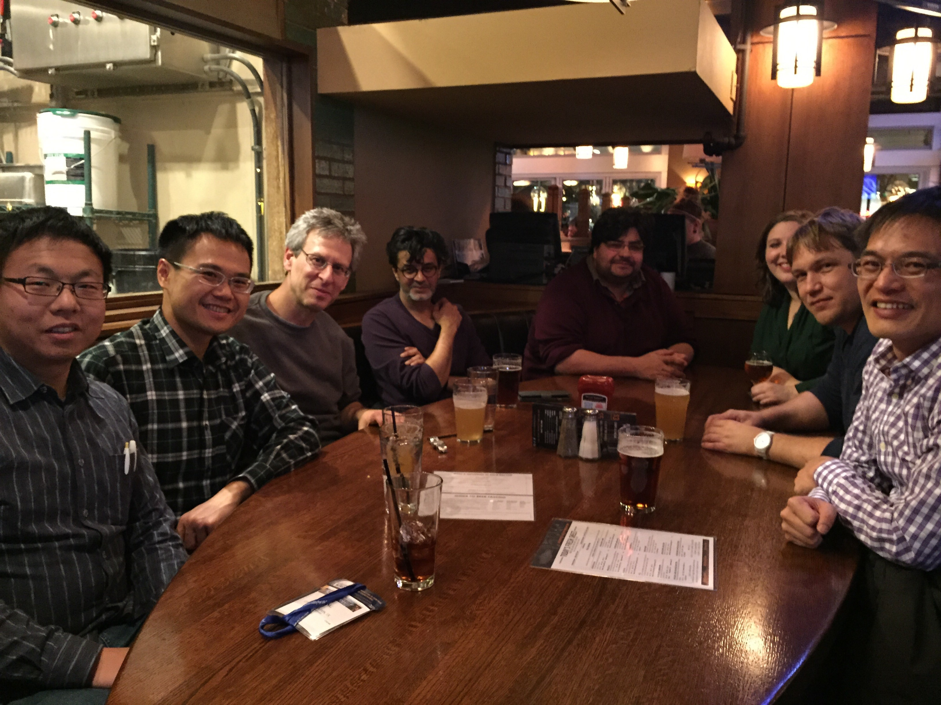 Dr. Cremer and former group members Dr. Wei-Ssu Liao (second from left) and Dr. Da Huang (first from left) met at ACS meeting held at Denver, March 22-26, 2015