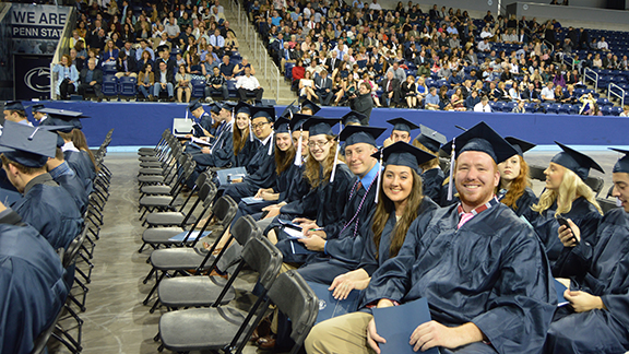undergraduates at commencement