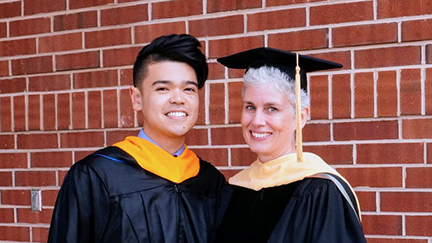 graduate commencement Limpisathian and Brewer Summer 2017