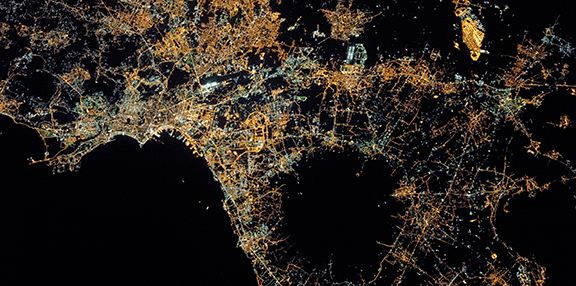 Naples at night