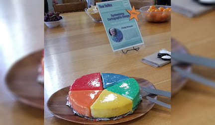 color wheel cheesecake