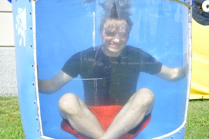 Klippel in the dunk tank