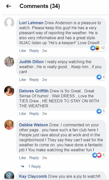VIEWER COMMENTS – Meteorologist Drew Anderson