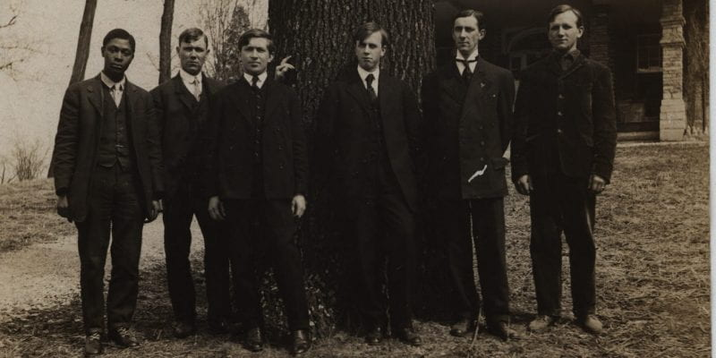 Photograph of Ralph Brock and others
