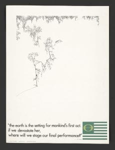 Earth Day Poster, 1970