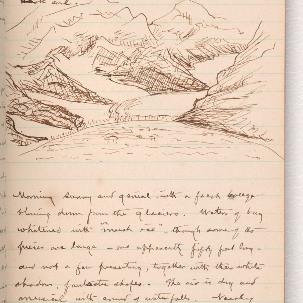 Page from Harriman Alaska Expedition Diary, 1899