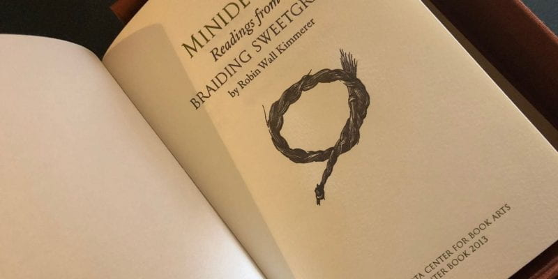 Title page of Minidewak: Readings from Braiding Sweetgrass