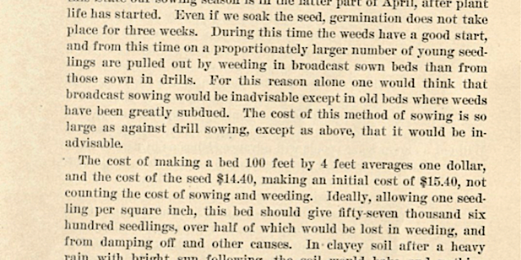Second page of Ralph E. Brock, Broadcast Sowing vs. Drill Planting