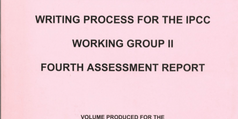Documents in Support of the Writing Process for the IPCC Working Group II Fourth Assessment Report, title page