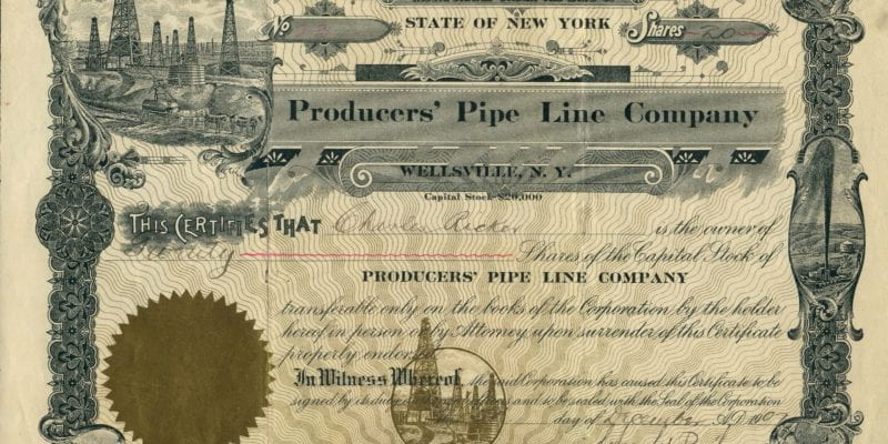 Producers' Pipe Line Company, $100 share