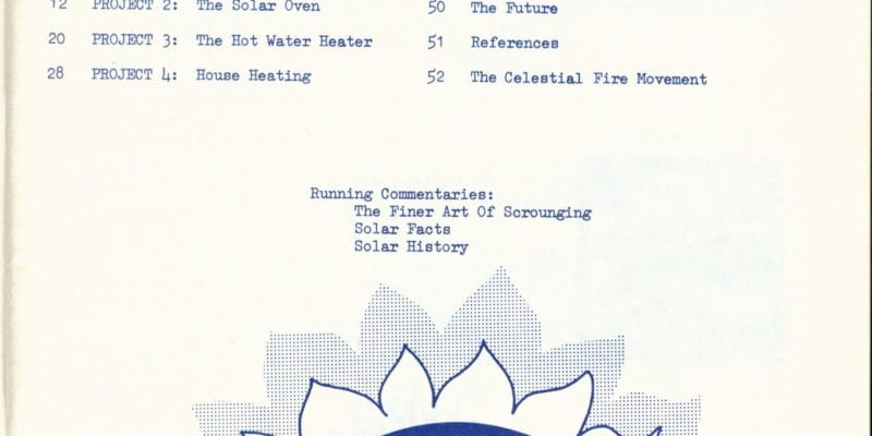 Table of Contents from Practical Sun Power