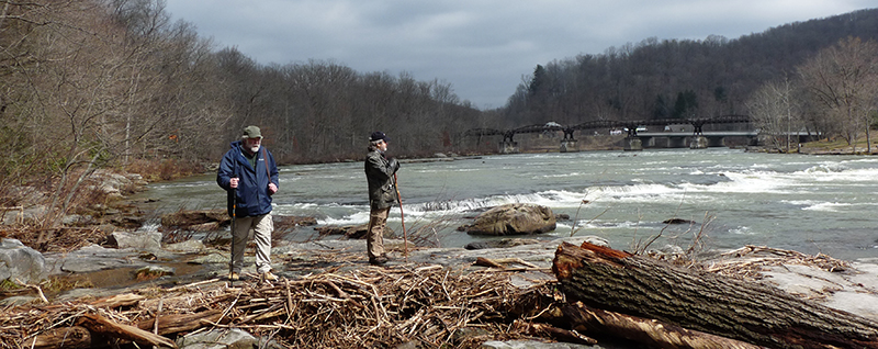 Two Penn State professors at Ohiopyle, PA