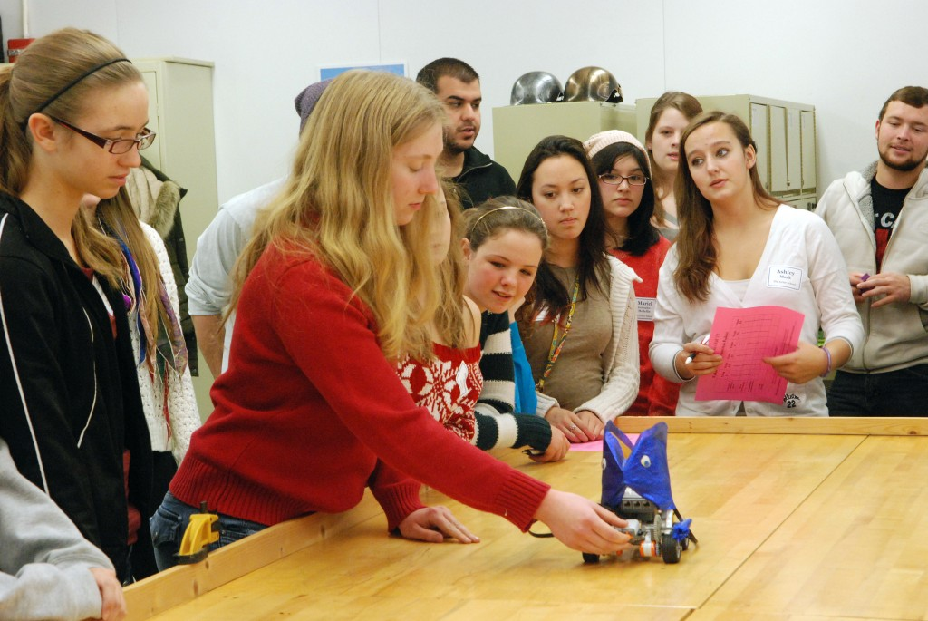 "Middle school girls say, ""Domo arigato, Mr. Roboto"" after Penn State visit"