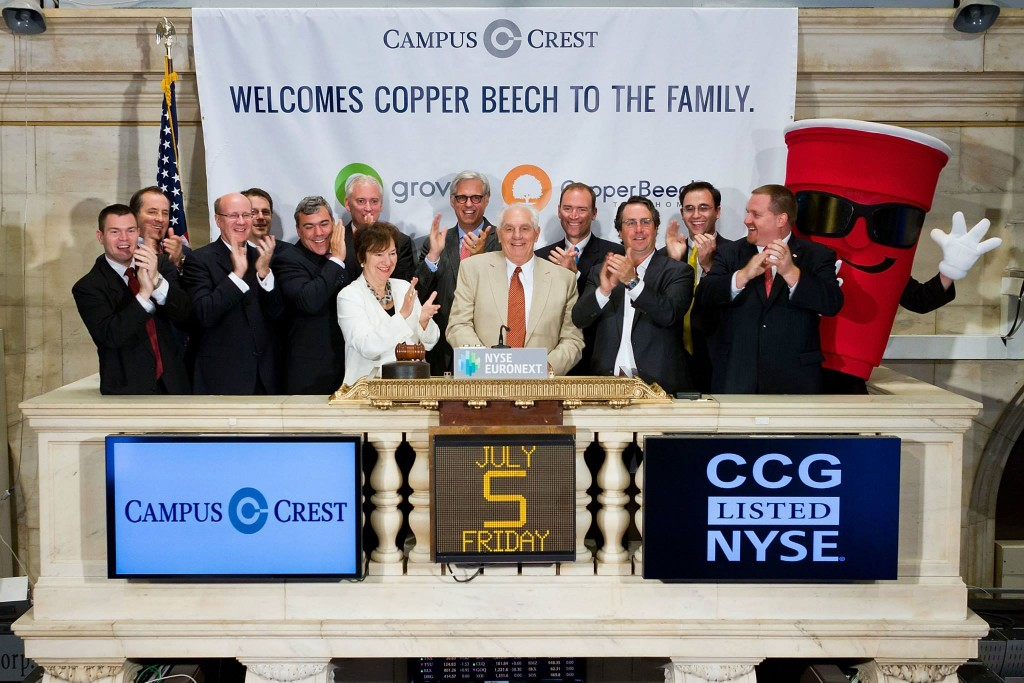 Penn State chemical engineering alumnus and former faculty member Jack McWhirter rang the opening bell on Wall Street on July 5.