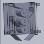 CAD rendering of baobab seed crusher