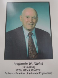 Benjamin Niebel was a professor and long-time department head.