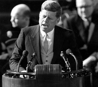 JFK asking us to ask not what our country can do for us but what we can do for our country