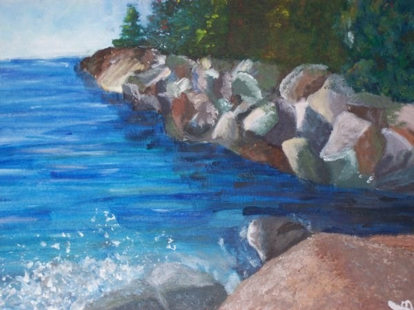 Landscape of a Rocky Beach