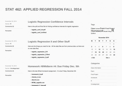 STAT 462: Applied Regression Fall 2014