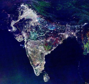 nasa picture over India