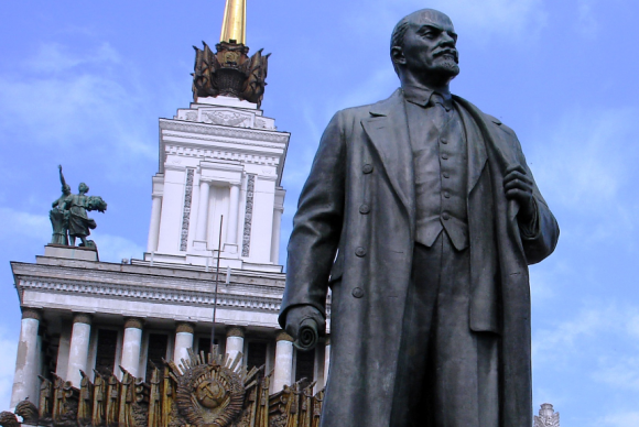 This iconic image of Vladimir Lenin in Moscow's Red Square was the working man's hero in post WWI Russia. Now Socialism has given way to Capitalism and open new doors for international business. (https://apetcher.files.wordpress.com/2013/12/lenin.jpg)