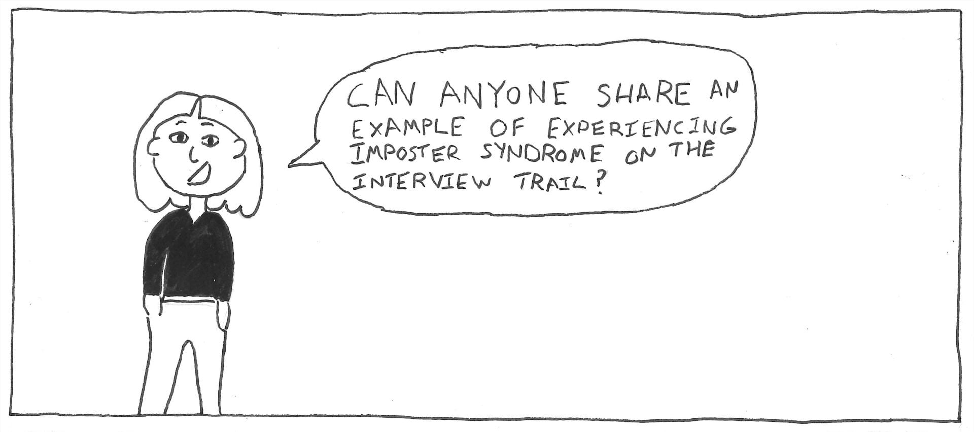 Andrew Feldman Comic ttled Imposter Syndrome