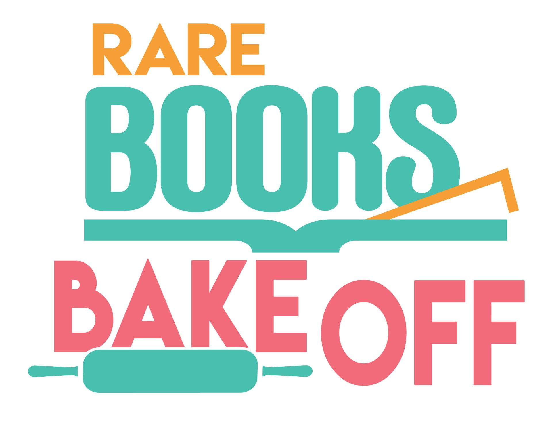 """Image shows a logo that says """"Rare Books Bake Off"""""""