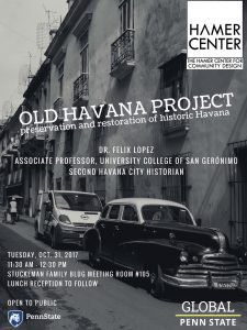 Black and White photo of Old Havana with classic cars and old architecture