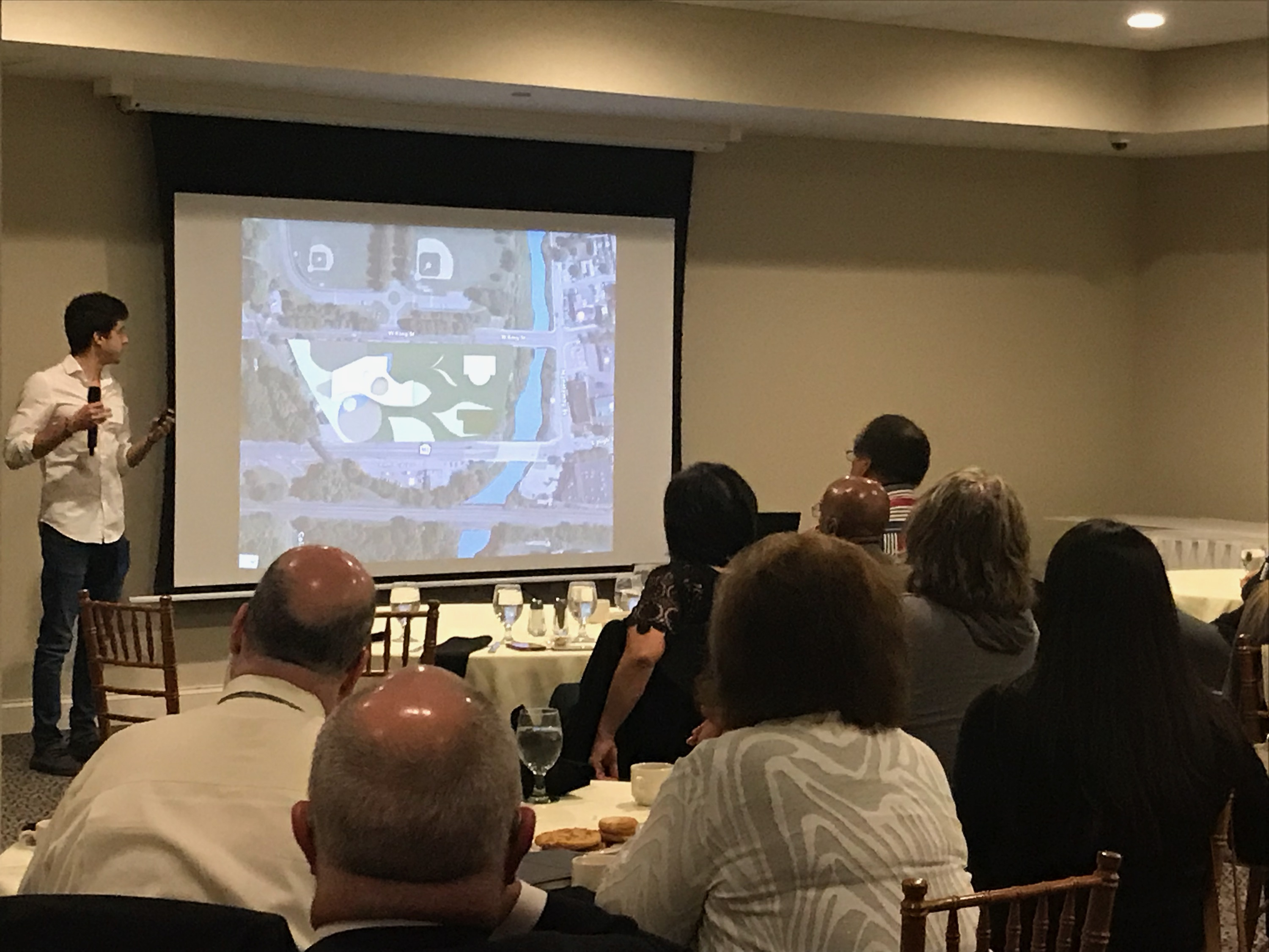 19 4th year Architecture students presented design work in Pottstown, Pa on November 16. 35 community representatives from Pottstown Area Health and Wellness Foundation and other Pottstown organizations participated.
