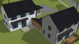 Digital Rendering of duplex houses