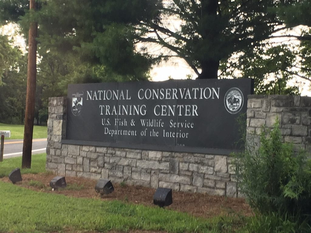 National Conservation Training Center Entry Sign