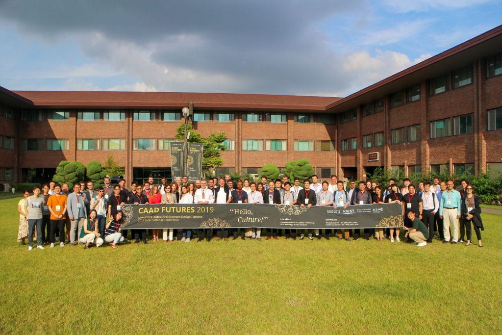 CAAD Futures 2019 group photo of the conference