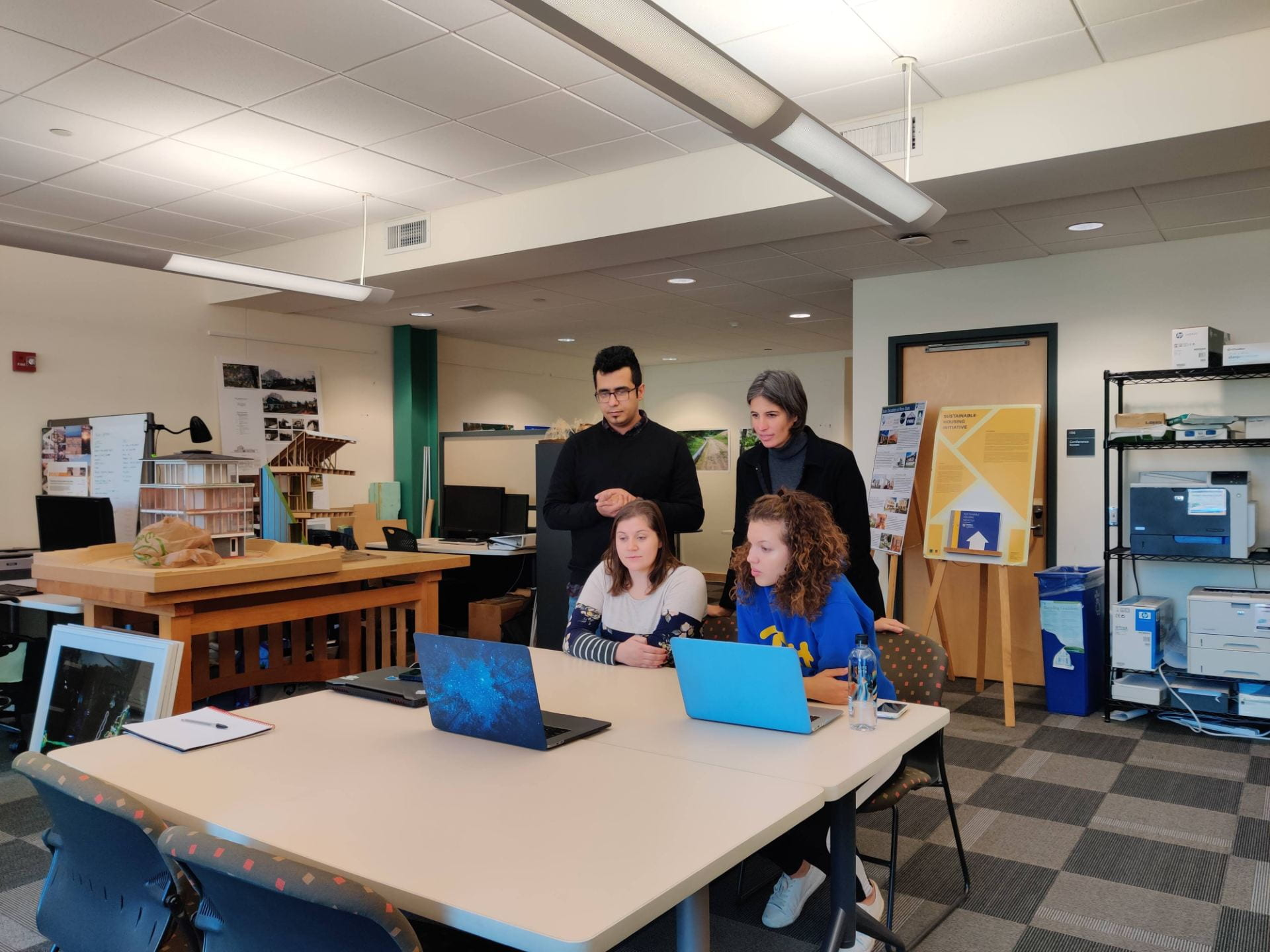 "Researchers in the Hamer Center for Community Design (HCCD) consulted with elementary school students on the design of their class ""tiny house"" projects."