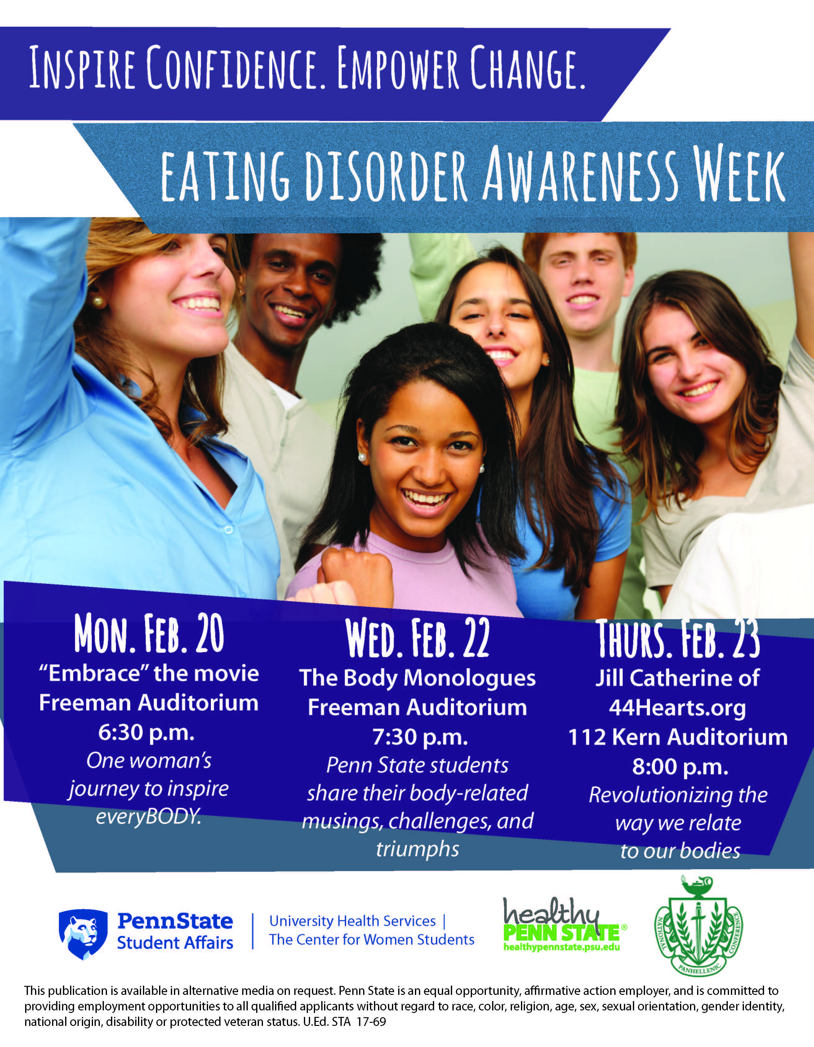 Eating Disorder Awareness Week Healthy Penn State - 15 inspiring women won against eating disorders