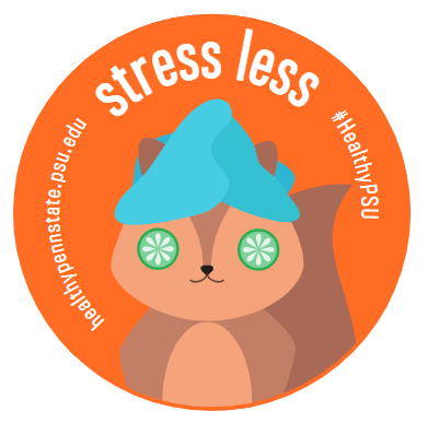 Healthy Penn State stress less sticker